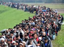 line of refugees 1