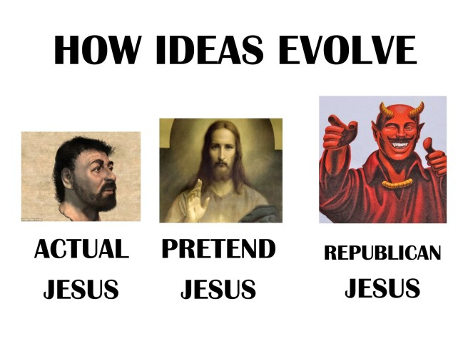Actual Jesus-Pretend Jesus-Republican Jesus
