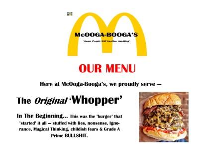 Our menu - Whopper