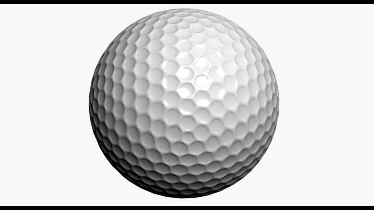 Dimples On A Golf Ball